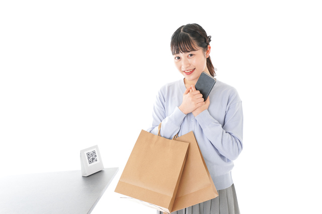 クレジットカード-大学生女性-買い物.